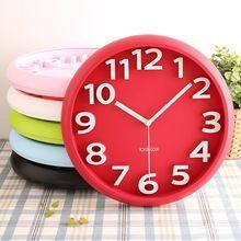 3D mode bonbons horloge murale circulaire numérique horloges montres muets…