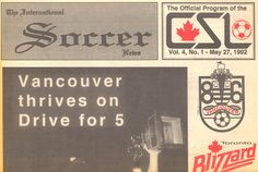 Canadian Soccer League Newspaper, top half 1992. Soccer League, Newspaper, Vancouver, Toronto, Top, Crop Shirt, Blouses