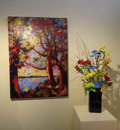 Mid Island Floral Art Club display June 2014 at The Old School House Gallery in Qualicum Beach B.C.Canada. Floral arrangements to compliment paintings in the gallery were on display for two weeks. See us at mifag.org or on Facebook