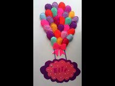Keçeden balon kapı süsü nasıl yapılır - YouTube