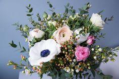 Bouquet aux fleurs claires, lumineux