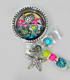 DELUXE SUNSET COVE seaturtle Retractable Badge by Badgetopia (Reelfabulous)