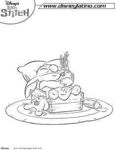 1000 Images About Lilo And Stitch Coloring Pages On