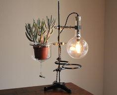 Industrial desk lamp steampunk lamp vintage by OBJECTSofINDUSTRY