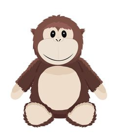 gorilla baby vector