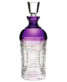Waterford Barware, Mixology Circon Purple Decanter - Bar & Wine Accessories - Dining & Entertaining - Macy's #wedding #weddingift #luxuryweddinggift #luxurygift #luxury