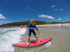 Have you given a surfing lesson a go these holidays?? grin emoticon  You've still got time before school goes back! Give the Port Stephens Surf School a buzz! smile emoticon #big4karuah Image: Port Stephens Surf School