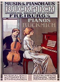 Ruckmich Musical Instrument Vintage Poster Fine Art Giclee Print