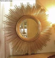 Round Sun Mirror with Gold Leaf : Mirrors : C.C. Interiors Product Catalogue