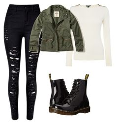 """Untitled #120"" by suri-rodriugez on Polyvore featuring Lauren Ralph Lauren, Hollister Co. and Dr. Martens"