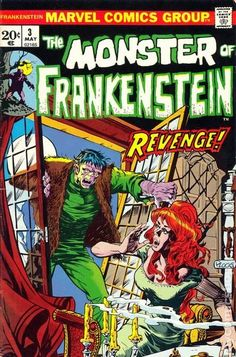 THE MONSTER OF FRANKENSTEIN 3, BRONZE AGE MARVEL COMICS