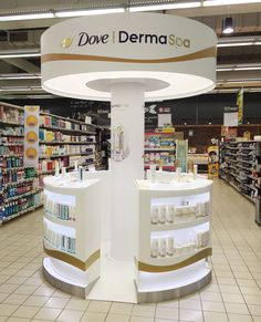 Dove Derma Spa on Behance Shop Display Stands, Pos Display, Display Design, Pos Design, Stand Design, Retail Design, Graphic Design, Design Exterior, Shop Interior Design