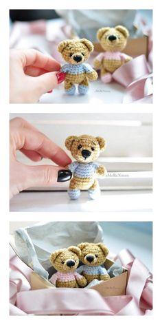 - Amigurumi Rainbow Bear Free Pattern – Free Amigurumi Patterns Crochet Amigurumi Free Patterns, Crochet Animal Patterns, Stuffed Animal Patterns, Crochet Animals, Crochet Dolls, Crochet Teddy Bear Pattern Free, Knitting Patterns, Cute Crochet, Crochet Crafts
