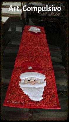 Trilho de mesa Natal Papai Noel