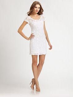 Engagement party? Candela - Cap-Sleeve Lace Dress - Saks.com