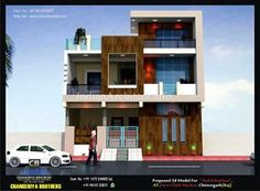 Mr. Anil Ji Kothari | Indian Architect Modern Kitchen Design, Modern House Design, Modern Architectural Styles, House Elevation, Futuristic Design, Floor Design, Ground Floor, Modern Contemporary, Motivational Board