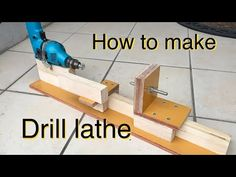 DIY 電動ドリルで旋盤の作り方 How to make hand drill lathe. Awesome Woodworking Ideas, Woodworking Lathe, Learn Woodworking, Woodworking Workshop, Woodworking Techniques, Woodworking Projects, Intarsia Woodworking, Woodworking Basics, Carpentry
