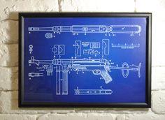#trenchart #trenchartstudio #WoodFramed #WW2Germany #PatentPrint #Poster #MilitaryPatent #ww2 #wwii #BluePrint #OldLookPrint  #PrintChalkboard  #Chalkboard #wallart #MP40 #SubmachineGun #Weapon #Gun #Parabellum #Schmeisser #mp38
