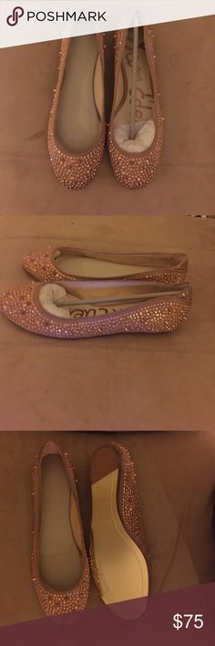 a47a5a73fa102 Rose gold flats covered with small studs Brand new with box. Size 6M. Rose