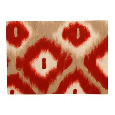 I'll be ordering these real soon!   Liora Manne // Ikat Diamonds Red Placemats, Set of 4