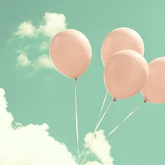 Autumn Photography Balloon mint pink nursery by CarolineKollektart, $30.00