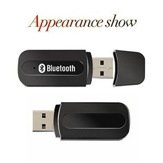 USB Bluetooth Music Receiver Adapter, 3.5mm Stereo Audio Music Speaker Receiver Car Hands-free Portable Mini USB Wireless Bluetooth Music…