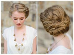 The Farm at High Shoals - Romantic and Natural Wedding Updo Ideas