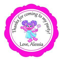 Abby Cadabby Favor favor stickers treat party favors Birthday Stickers  Street #SesameStreet #BirthdayChild
