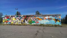 """Cool """"graffiti"""" art near the art co-op in #PrinceGeorge. Exploring your own city is a great """"stay-cation!"""" Prince George, BC *by sleekitty"""