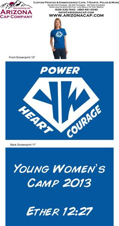 What to be super heroes for girls camp? We have the perfect logo for your theme. Just give us a call or email to let us know how you would like this customized for your girls camp. (480) 661-0540 http://www.arizonacap.com/girlscamp.htm