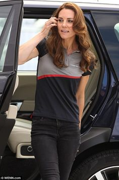 On the crest of a wave! Kate and Wills back Britain's America Cup bid as they arrive in Portsmouth to cheer Sir Ben Ainslie's crew | Daily Mail Online