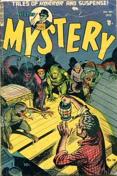 Comic Book Cover For Mister Mystery #14