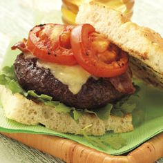 Cabernet Burgers with Rosemary Focaccia