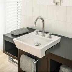 Cuba de Sobrepor para Banheiro Siena 45cmx37,5cmx11,5cm Japi Branco