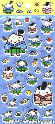 Sanrio Character Stickers - Samurai from MyKawaiiLife.com
