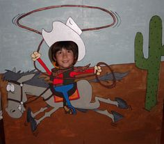 Wild Wild West theme decoration board
