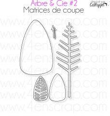 Ces matrices de coupe peuvent être utilisées comme un arbre stylisé mais aussi comme des feuilles pour embellir vos créations.