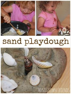 Bring the beach home with this fun sand playdough recipe!