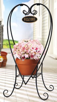 Welcome Decorative Metal Plant Stand