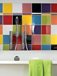 coloured bathroom tiles 1000 images about bright bathrooms on bright 12396