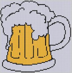 Beer Stein Cross Stitch Pattern