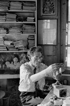 Henri Cartier Bresson- 1961   Alberto Giacometti, Stampa, Switzerland