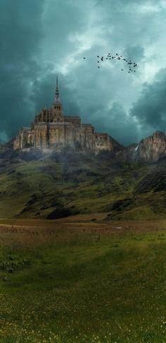 In the Distance, Mt. Saint Michel, France