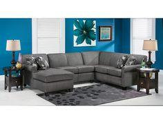 Sectional Sofa: Slumberland York Sectional Sofa In Granite. 2014 Presidentu0027s  Day Sale Price $1,839.99
