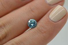 Round Shape Blue 1.12 Carat SI1 Natural Enhanced Loose Diamond For Wedding Ring