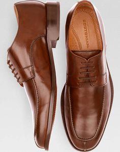Bostonian Algonquin Brown Blucher Dress Shoes
