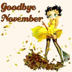 Betty Boop Goodbye November