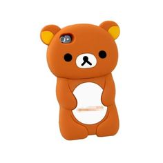 Amazon.com: 3D Brown Rilakkuma Bear Hard Case Cover for iPhone 4 4S 4G: Cell Phones & Accessories