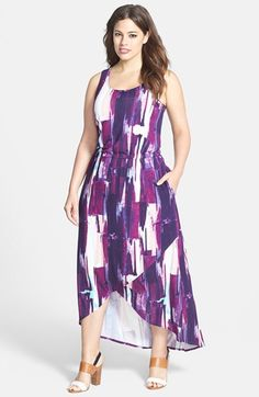 Sejour Jersey Cutaway Maxi Dress (Plus Size) available at #Nordstrom