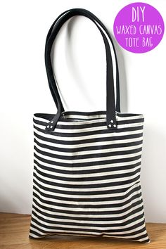 DIY Waxed Canvas Tote Bag Tutorial.  This is actually for waxing the fabric!  How cool is that?